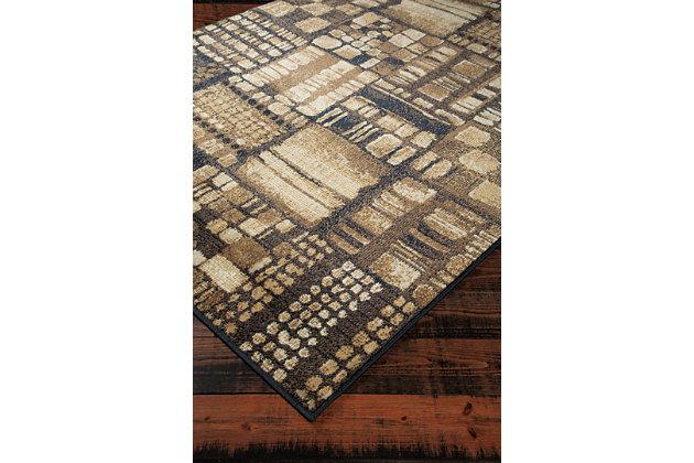 Hilliard 5' x 7' Rug, Black/Brown, large