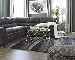 Pasternak 8' x 10' Rug, Black/Gray, large