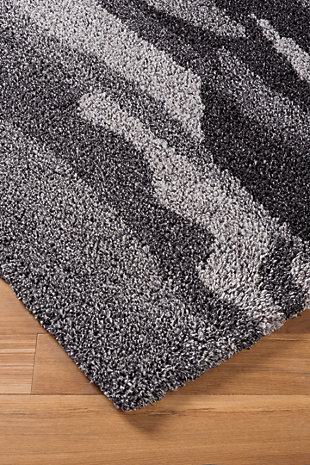 Pasternak 5' x 8' Rug, Black/Gray, large
