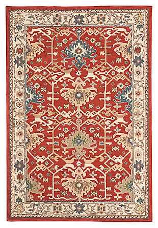 "Forcher 8' x 10'6"" Rug, Brick, large"