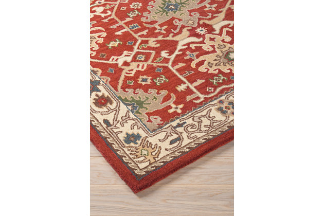 "Forcher 5' x 7'6"" Rug, Brick, large"