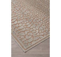 Ivory contemporary styled ivory are rugs with textured snake skin design