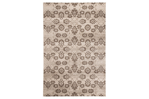 Aviana 5' x 7' Rug by Ashley HomeStore, Tan, Polypropylene (100 %)