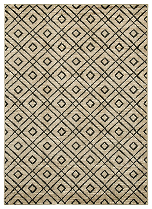 "Jui 8' x 9'6"" Rug, Brown/Cream, large"