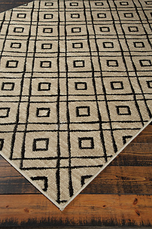 "Jui 5' x 6'7"" Rug, Brown/Cream, large"