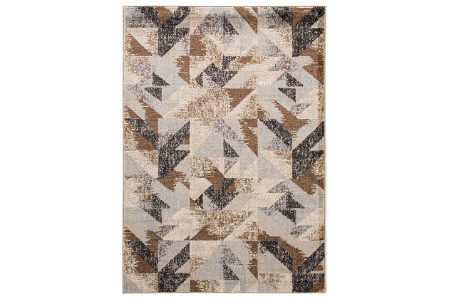 "Jun 5' x 6'7"" Rug, Multi, large"