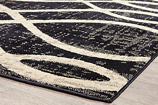 "Avi 5'3"" x 7'6"" Rug, Gray/White, large"