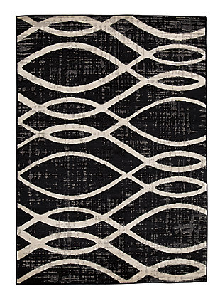 "Avi 7'10"" x 10' Rug, Gray/White, large"