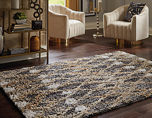 Vinmore Medium Rug, Tan/Gray, rollover
