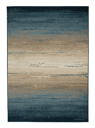 "Ignacio 7'7"" x 10' Rug, Blue/Tan, large"