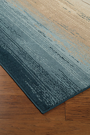 "Ignacio 5'1"" x 7'6"" Rug, Blue/Tan, large"