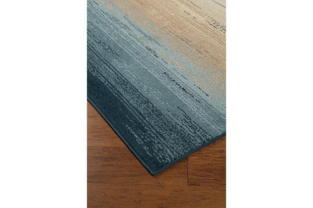 "Ignacio 7'7"" x 10' Rug, Blue/Tan, large"