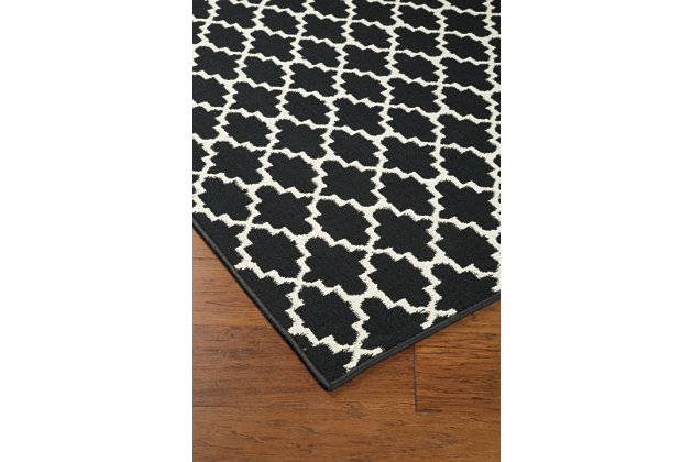 Nathanael 5' x 7' Rug, Black/Cream, large