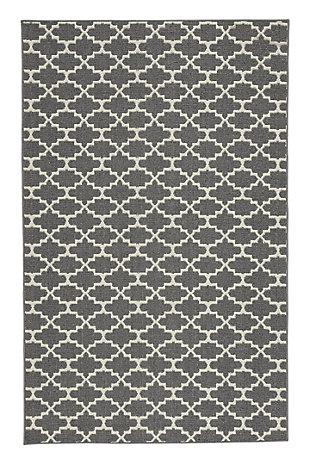 Nathanael 8' x 10' Rug, Gray/Tan, large