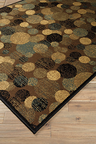Vance 5' x 7' Rug, Brown/Cream, large