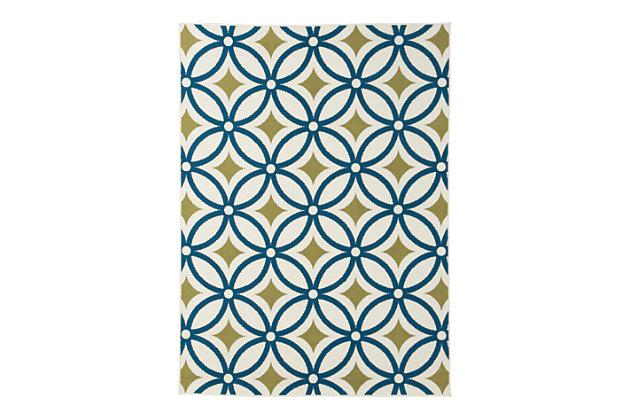 Solfest Medium Rug by Ashley HomeStore, Blue & Green