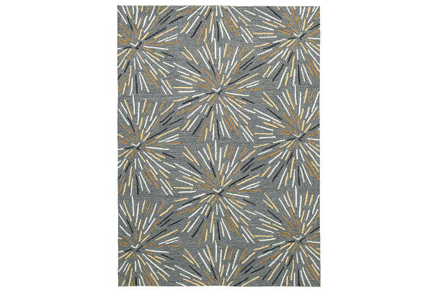 Calendre 8' x 10' Rug, Gray/Yellow/White, large
