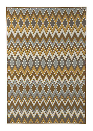 Dedura 5' x 7' Indoor/Outdoor Rug, Multi, rollover