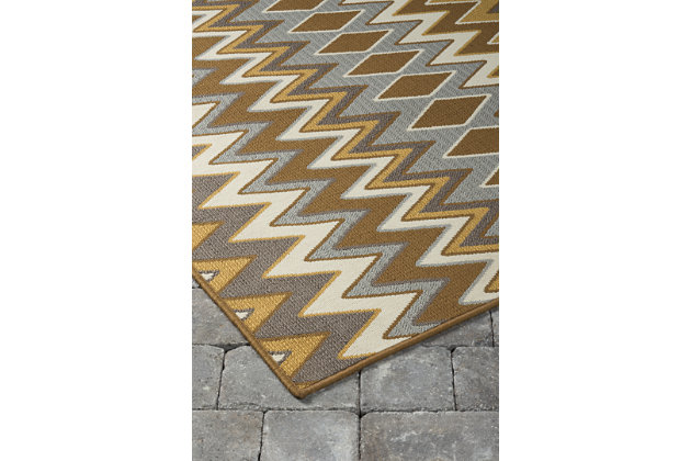 Dedura 5' x 7'  Indoor/Outdoor Rug, Multi, large