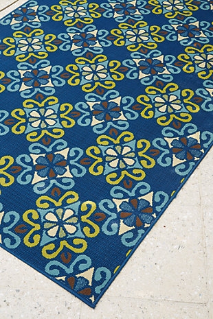 Glerok 5' x 7' Indoor/Outdoor Rug, Multi, rollover