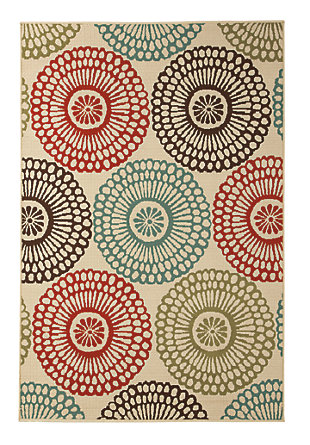 Holliday 5' x 7' Indoor/Outdoor Rug, Multi, large