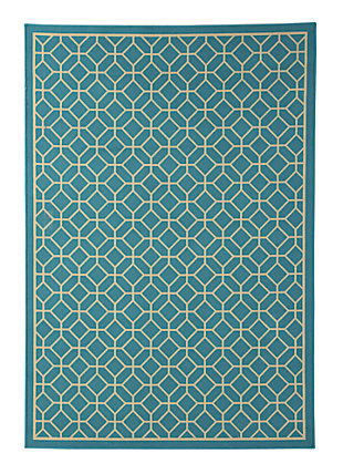 "Lindzy 7'10"" x 10'10"" Indoor/Outdoor Rug, Blue, large"