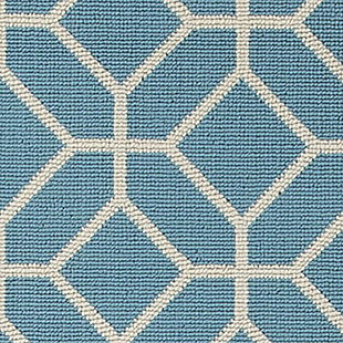 Lindzy 5' x 7' Indoor/Outdoor Rug, Blue, large
