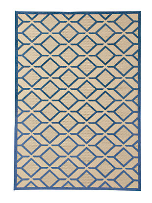 "Jenia 5' x 7'3"" Indoor/Outdoor Rug, Navy Blue, large"