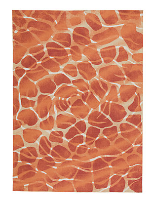 "Mauna 7'9"" x 10'10"" Indoor/Outdoor Rug, Red/Orange, large"