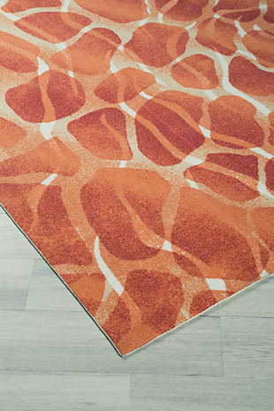 "Mauna 5'3"" x 7'5"" Indoor/Outdoor Rug, Red/Orange, rollover"