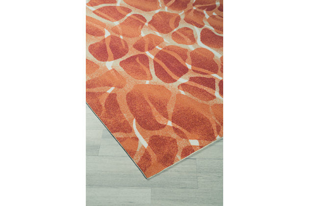 "Mauna 5'3"" x 7'5"" Indoor/Outdoor Rug, Red/Orange, large"