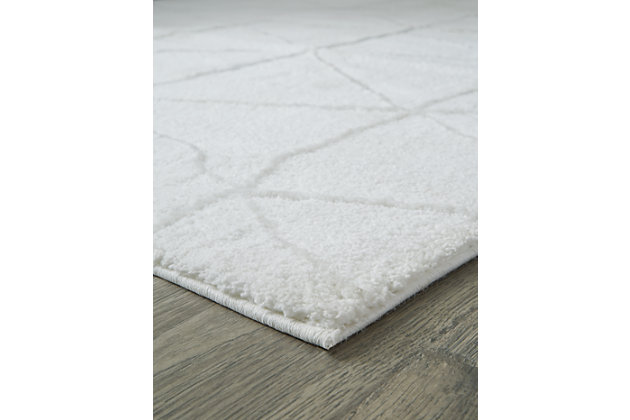 "Scarrit 5'3"" x 7'3"" Rug, White, large"