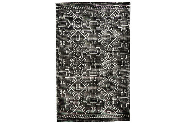 Edmond Large Rug by Ashley HomeStore, Black & White