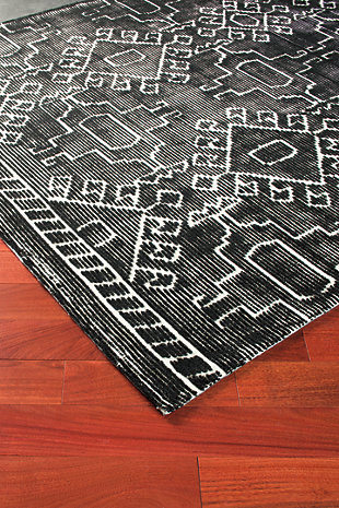 Edmond 5' x 8' Rug, Black/White, rollover