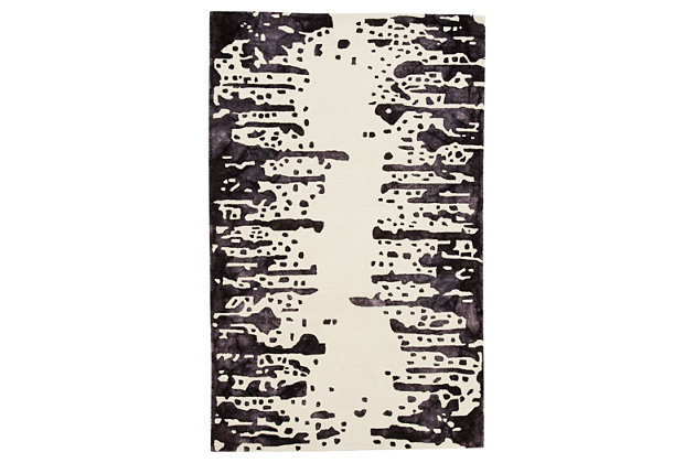 Indiana 5' x 8' Rug, White/Purple, large