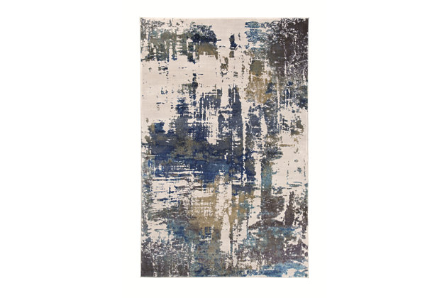 "Gabe 5' x 7'6"" Rug by Ashley HomeStore, White"