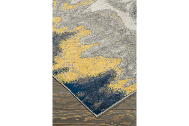 Alanson 8' x 10' Rug, Blue/Gray/Yellow, large
