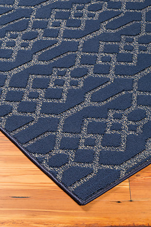 Coulee 8' x 10' Rug, Blue, rollover