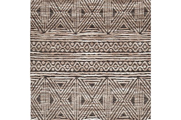 Kylin Medium Rug, Taupe/Black, large