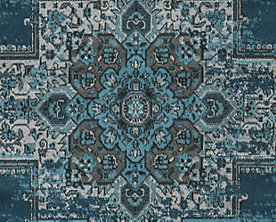 "Moore 5'3"" x 7'3"" Rug, Blue/Brown/Gray, large"