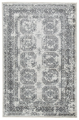 "Jirou 5' x 7'6"" Rug, Cream/Gray, large"