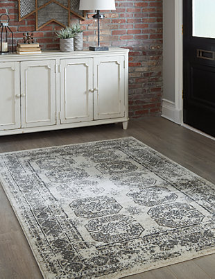 "Jirou 5' x 7'6"" Rug, Gray/Taupe, rollover"