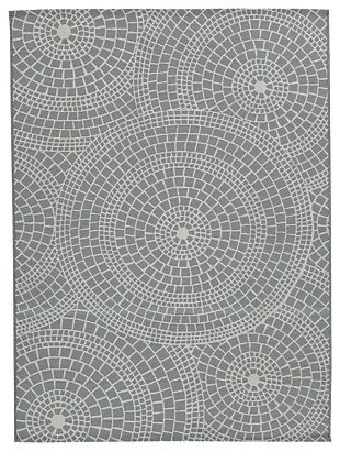 Jesimae 5' x 7' Rug, Gray, large