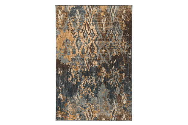 Kayson Rug by Ashley HomeStore, Blue, Gray & Yellow, Poly...