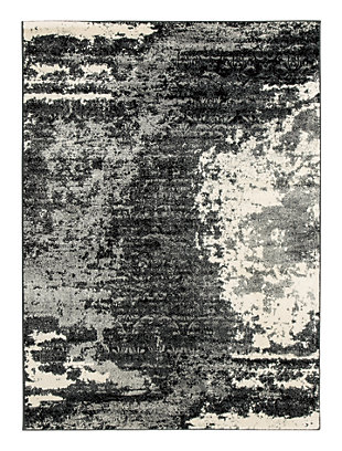 Roskos 5' x 7' Rug, Black/Gray, large