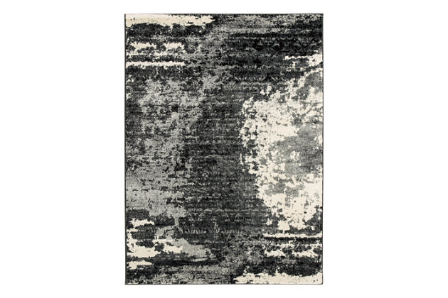 Roskos 8' x 10' Rug, Black/Gray, large