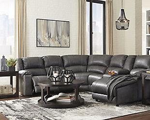 Roskos 5' x 7' Rug, Black/Gray, large