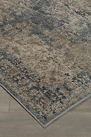 South 5' x 7' Rug, Blue/Beige, rollover