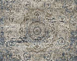 South 5' x 7' Rug, Blue/Tan, large