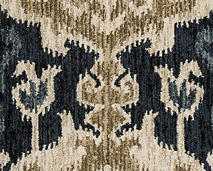 Saville 5' x 7' Rug, Blue/Brown, large